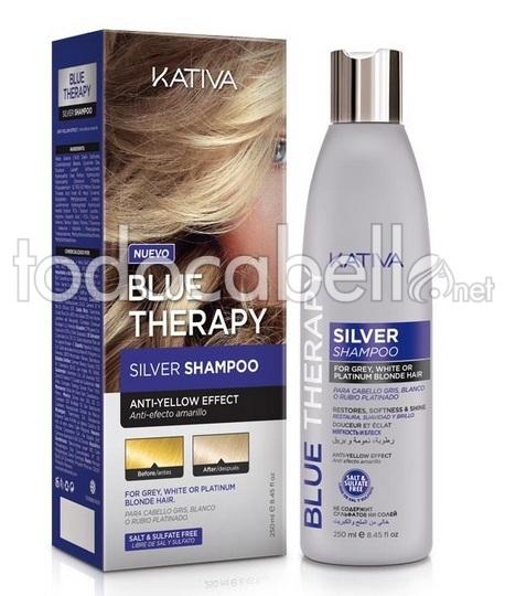 Kativa blu Therapy Shampoo Argento 250ml No sale. effetto anti-giallo 122c04f4a75a