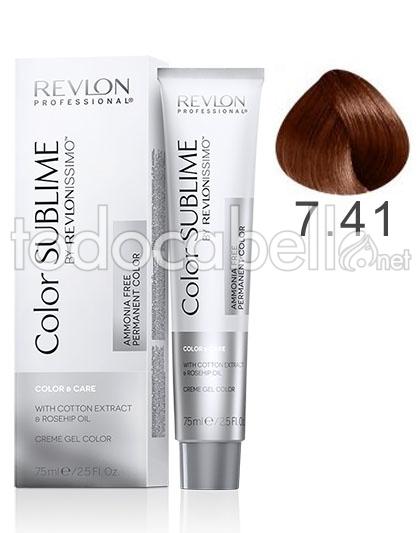 Revlon Tinte Color Sublime Revlonissimo 741 Biondo Nocciola Ammonia Free 75ml